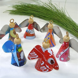 eco christmas gifts - recycled angels