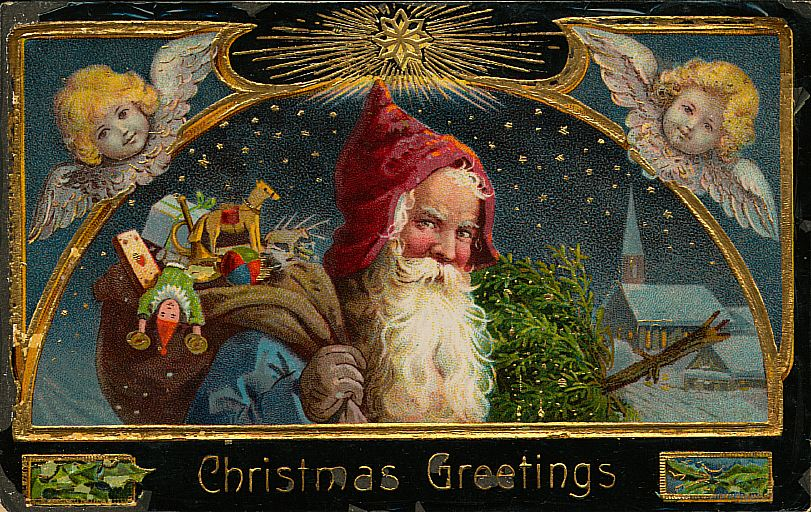 free christmas postcards - saint nicholas