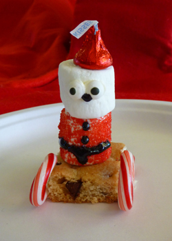 cute christmas food crafts - santa sled