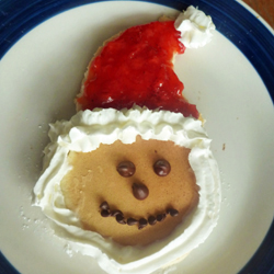 christmas foods for kids - santa pancakes