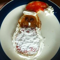 christmas pancakes - santa claus 1